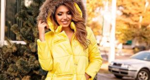 Модные женские куртки, пуховики на зиму