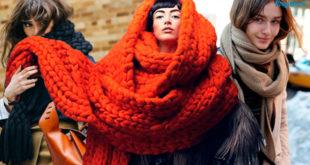 Как завязывать шарф в зимний период